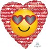 "18"" Hashtag Love Emoticon Foil Balloon - Pkg"