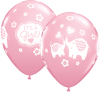 "11"" It's A Girl Elephants Latex Balloons - 50ct"