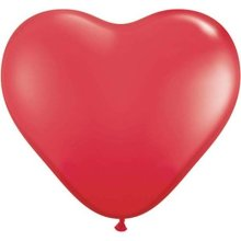 "6"" Red Heart Latex Balloons - 100ct"