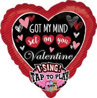 "29"" Got My Mind Set on You Sing-A-Tune Foil Balloon"