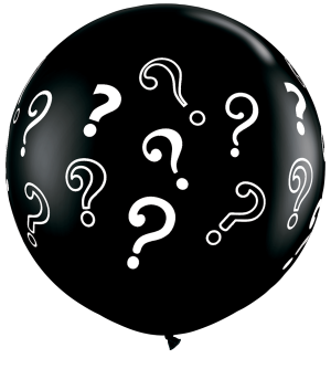 3ft Question Marks Gender Reveal Latex Balloons - 2ct