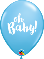 "11"" Oh Baby! Pale Blue Latex Balloons - 50ct"