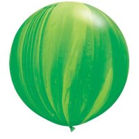 "30"" Green Rainbow SuperAgate Latex Balloons - 2ct"