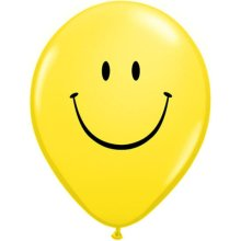 "11"" Smile Face Latex Balloons - 50ct"
