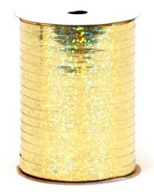 "Gold Holographic Curling Ribbon - 3/16"" x 100yds"