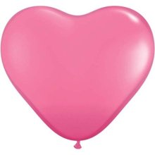 "6"" Rose Heart Latex Balloons - 100ct"