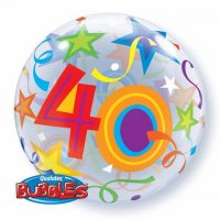 "22"" #40 Brilliant Stars Bubble Balloon"