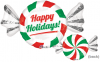 "29"" X 17"" Peppermint Candy SuperShape Foil Balloon"
