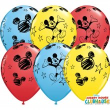 "16"" Mickey Mouse Special Assortment Latex Balloons - 25ct"
