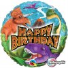 "18"" Birthday Dinosaurs Holographic Foil Balloon - Pkg"