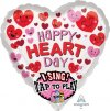 "29"" Happy Heart Day Sing-A-Tune Foil Balloon"