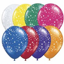 "16"" Stars-A-Round Jewel Assortment Latex Balloons - 50ct"