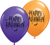 "11"" Halloween Moon & Bats Assorted Latex Balloons - 50ct"