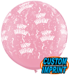 3ft Birthday-A-Round Pink Latex Balloon - 2ct