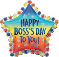 "30"" Happy Boss's Day to You Foil Balloon - Pkg"