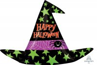 "37"" X 27"" Halloween Witch Hat SuperShape Foil Balloon - Pkg"