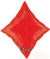 Red Diamond Junior Shape Foil Balloon