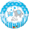 "18"" It's A Boy Elephants Foil Balloon - Pkg"