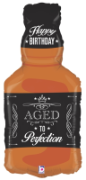 "34"" Aged to Perfection - Whiskey Shape Foil Balloon - Pkg"