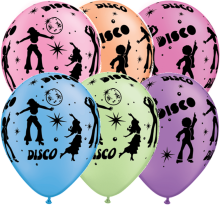"11"" Disco Neon Assortment Latex Balloons - 50ct"