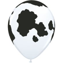 "11"" Holstein Cow Latex Balloons - 50ct"