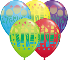 "11"" Assorted Birthday Sprays Latex Balloons - 50ct"