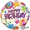 "18"" Birthday Dazzling Sweets Holographic Foil Balloon - Pkg"