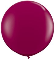 3ft Sparkling Burgundy Latex Balloons - 2ct