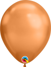 "11"" Chrome Copper Latex Balloons - 100ct"