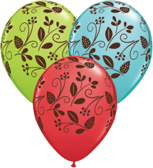 "11"" Woodland Foliage-A-Round Latex Balloons"