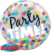"22"" Party Time! Colorful Dots Bubble Balloon"