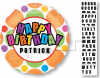 "18"" Birthday Dots - Add a Name Personalized Foil Balloon - Pkg"