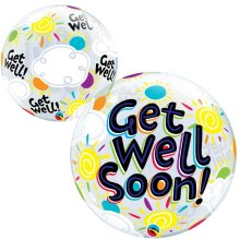 "20"" Get Well Soon Sunny Day Bubble Balloon"