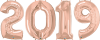 "34"" Rose Gold 2019 Foil Number Balloons Bundle - Pkg"