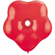 "16"" Red Geo Blossom Latex Balloons - 25ct"