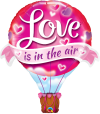 "42"" Love is in the Air Balloon - Pkg"