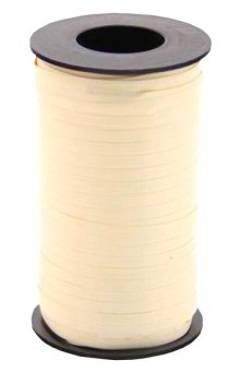 "Ivory Wide Crimped Curling Ribbon - 3/8"" x 250yds"