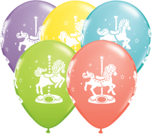 "11"" Carousel Horse Latex Balloons - 50ct"