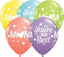 "11"" Mom You're The Best Latex Balloons - 50ct"