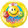 "36"" Get Well Smiley Faces Shape Foil Balloon"