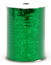 "Emerald Green Holographic Curling Ribbon - 3/16"" x 250yds"