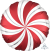 "18"" Satin Infused Sangria Candy Swirl Foil Balloon - Unpkg"