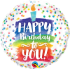 "18"" Happy Birthday To You Rainbow Cake Foil Balloon - Pkg"