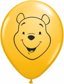 "5"" Pooh Face Latex Balloons - 100ct"