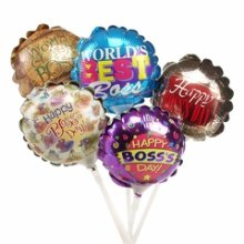 "4"" Air-Filled Boss's Day Assortment Balloons - 1ct"
