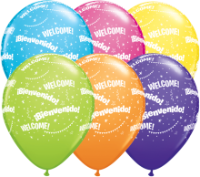 "11"" Bienvenido! Welcome-A-Round Latex Balloons - 50ct"
