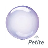 "10"" Purple Crystal Clearz Petite Balloon - 1ct"