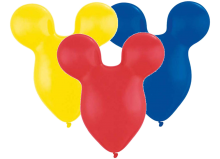 "15"" Mousehead Special Assortment Latex Balloons - 25ct"