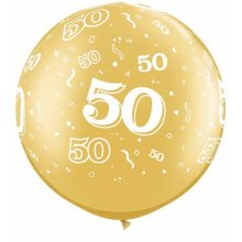 "30"" 50-A-Round Gold Latex Balloons - 2ct"