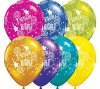 "11"" Birthday Wishes Fantasy Assortment Latex Balloons - 50ct"
